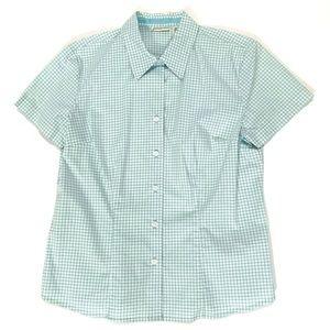 St. John's Bay gingham checked button down shirt